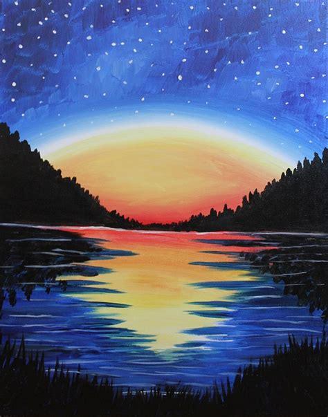 paint nite high peaks starry night