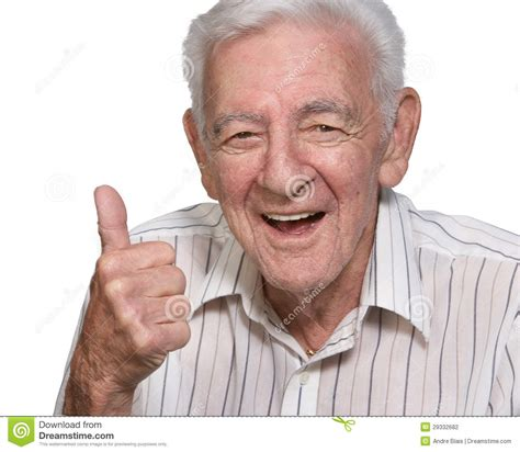 Happy Old Man Stock Photography