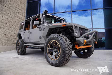 sema jeep 2016 2016 sema starwood custom gray orange jeep jk wrangler