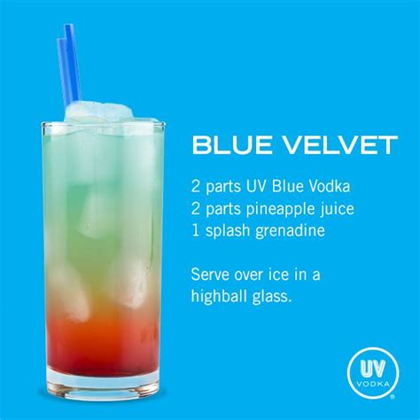 uv vodka recipe blue velvet alcoholic beverages vodka