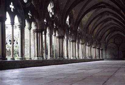 Salisbury Cathedral Cloisters Medieval Courtyard Stone Photoeverywhere