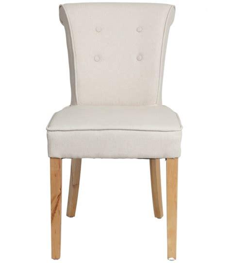 chaise de salle 224 manger classique capitonn 233 e beige j