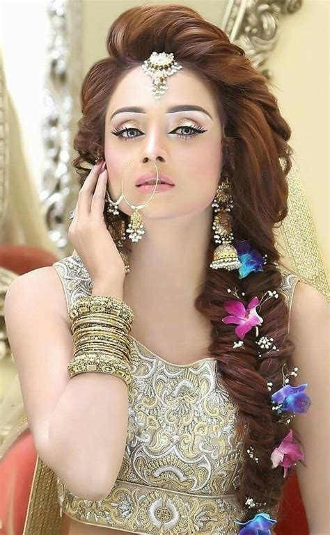beautiful girl indian bridal makeup   pakistani