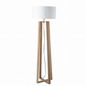 Lampadaire Maison Du Monde : lampadaire en bois et coton h 160 cm iceberg maisons du ~ Premium-room.com Idées de Décoration