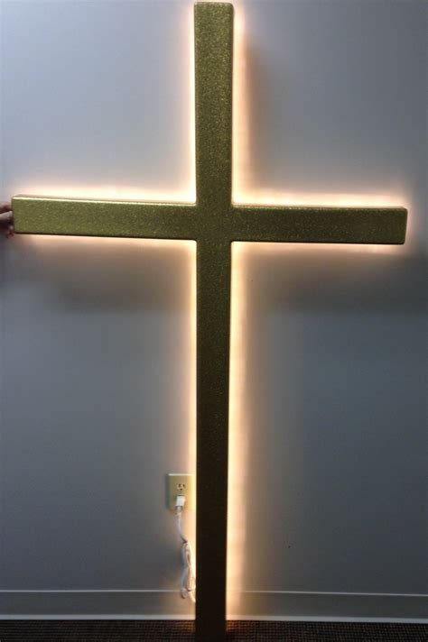 Gold Fiberglass Wall Cross with Backlighting | Southeast