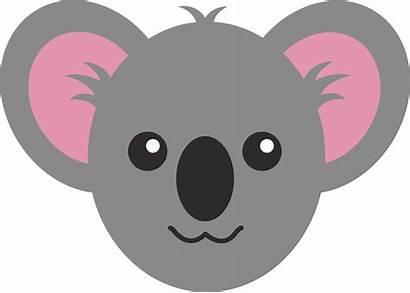 Koala Clipart Bear Cartoon Face Clip Animal