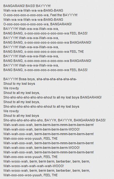 la tua canzone testo testo canzone bangarang di skrillex testo canzone
