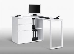 Bureau Moderne Design : bureau moderne blanc nice bureau informatique d angle design avec rangement blanc ~ Teatrodelosmanantiales.com Idées de Décoration