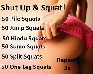 Squats | Fitness- Butt &Thighs | Pinterest