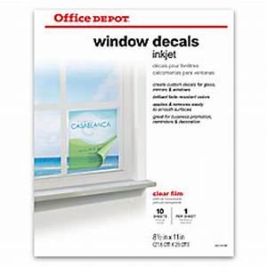 office depot brand inkjet window decals matte 8 12 x 11 With clear sticker paper office depot