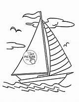 Boat Drawing Simple Coloring Getdrawings sketch template