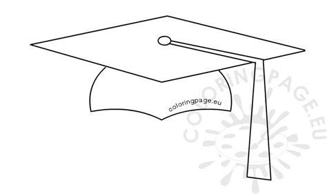 student graduation cap shape coloring page