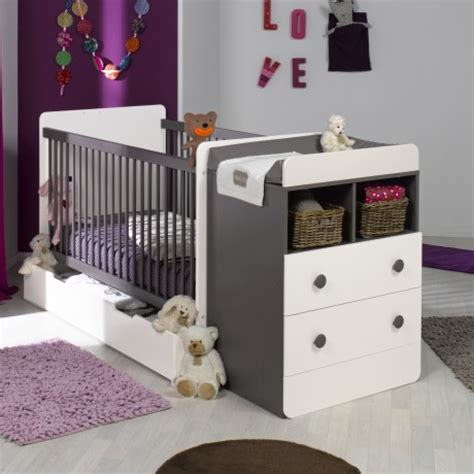 chambre complète bébé avec lit évolutif lit bebe evolutif avec tiroir blanc taupe 70x140