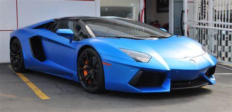 lamborghini aventador roadster matte blue exotic car rental dtla