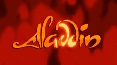 Aladdin Disney 1992 Title Card Walt Film