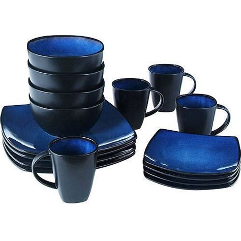 1640 blue and white dish sets beautiful black and blue dinnerware set 16