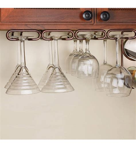 cabinet stemware rack large  wine glass racks