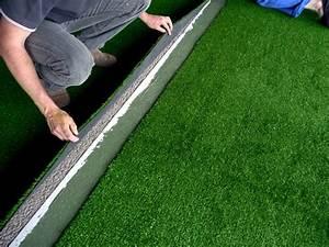 Pose Gazon Synthetique Sur Terre : pose des gazons artificiels artificiel ~ Dailycaller-alerts.com Idées de Décoration
