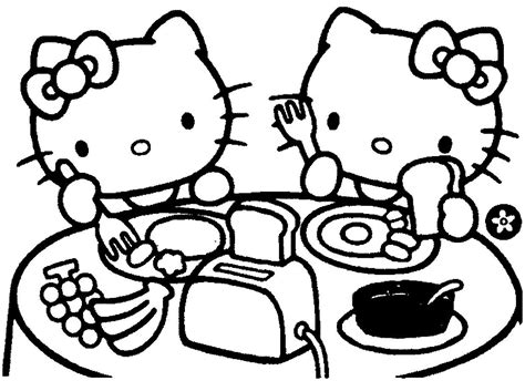 Breakfast Coloring Pages - Costumepartyrun