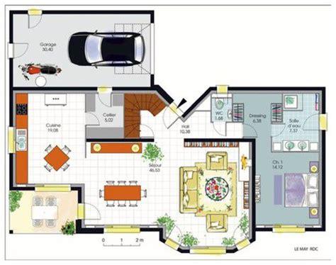 plan villa moderne 200m2 maison 200m2 top maison