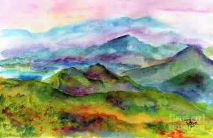 Blue Ridge Mountain Watercolor Paintings Landscapes