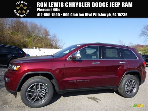 red jeep 2017 2017 velvet red pearl jeep grand cherokee limited 4x4