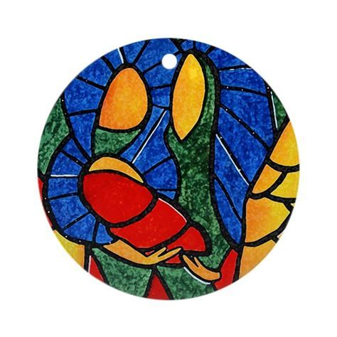 Colorful Abstract Holy Family Christmas Ornament by Holy