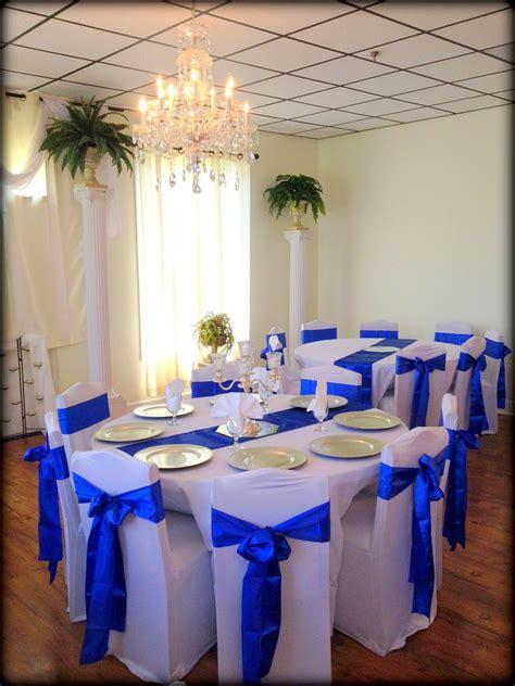 Royal Blue wedding decor Gold wedding decorations Blue