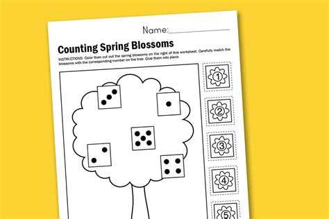 worksheet wednesday counting spring blossoms paging supermom