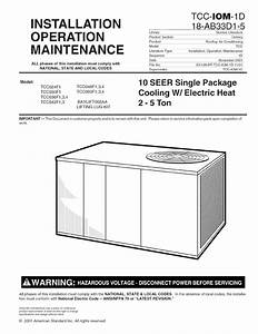 Trane Package Units Both Units Combined  Manual L0903219