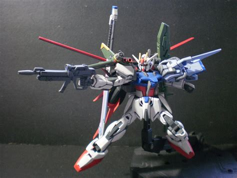 hg  perfect strike gundam improved painted scratch