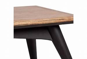 Table Basse Bois Et Noir : table basse scandinave rectangulaire vein en bois naturel et noir ~ Teatrodelosmanantiales.com Idées de Décoration
