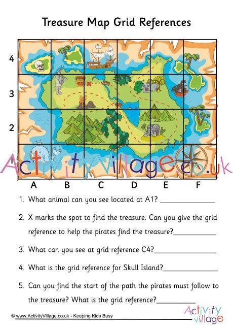 treasure map grid reference worksheet