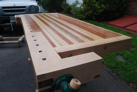 wooden traditional workbench plans  plans