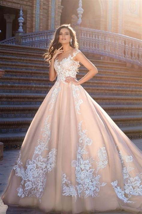 pink fit and flare dress design 2017 wedding dresses of bridal