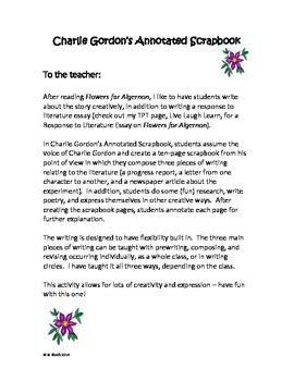 flowers  algernon charlie gordons scrapbook