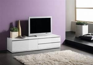 Meuble Blanc Pas Cher : meuble tv design blanc laque pas cher id es de ~ Dailycaller-alerts.com Idées de Décoration