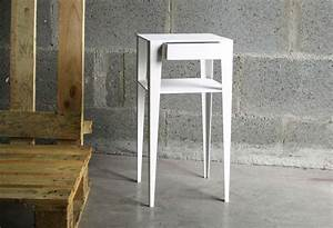 Table De Nuit Haute : table de nuit moderne blanche ~ Teatrodelosmanantiales.com Idées de Décoration