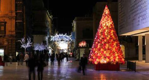 mdina glass christmas trees grace valletta once again