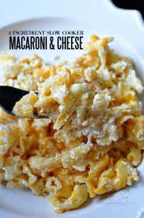 4 Ingredient Slow Cooker Macaroni and Cheese
