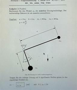 M2 Berechnen Formel : gleichungssystem stabile gleichgewichtslage bei 2 gewichten und einem lager berechnen nanolounge ~ Themetempest.com Abrechnung