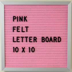 10 x 10 pink letter board for home wall decor dl071010pf for Felt letter board replacement panel