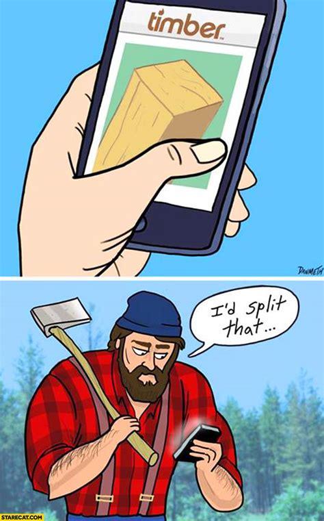 timber app lumberjack id split  starecatcom