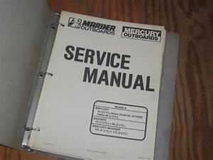 Buy Mercury Mariner Outboard Motor Service Manual 70 75 80