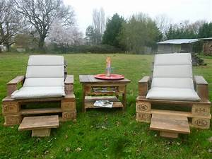 etourdissant palette meuble jardin et plan salon de jardin With meuble de jardin avec palette en bois