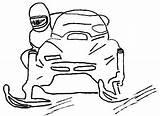 Coloring Snowmobile Printable Coloringhome sketch template