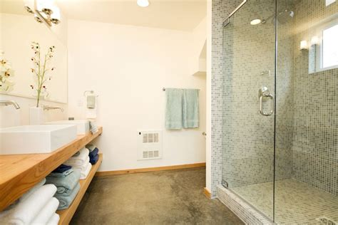 concrete bathroom floor a look at the use of concrete floors in bathrooms