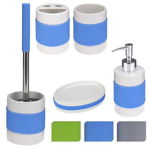 toilet soap dispenser bathroom accessories set silicone toilet cleaning brush