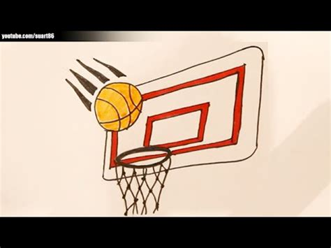 draw  basketball hoop youtube