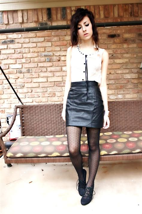 Add A Feminine Touch  7 Ways To Wear A Leather Skirt …